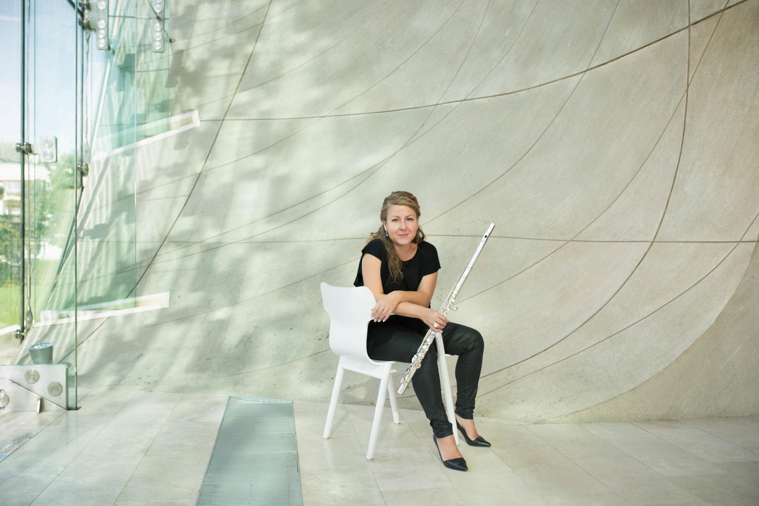Ewa Liebceh - flet, fot. Ksawey Zamoyski